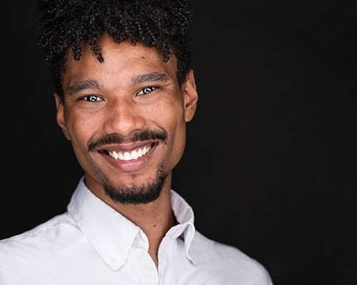 Professional Actor headshot of a man against a white background