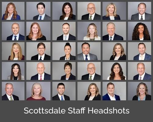 On location staff headshots